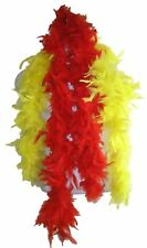 Hulk Hogan Red and Yellow Feather Boa Costume 6ft long 65g