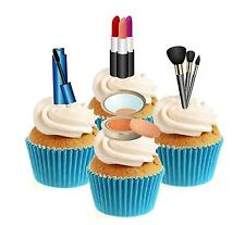 Novelty Make Up Mix 12 Edible Stand Up wafer paper cake toppers birthday