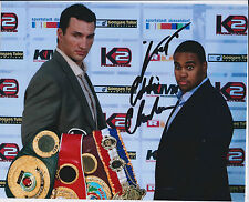 Fast Eddie CHAMBERS Signed 10x8 Autograph Photo AFTAL COA USA Boxer RARE