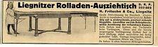 Liegnitzer Rolladen-Ausziehtisch (Reichspatent) Fritsche Liegnitz 1913