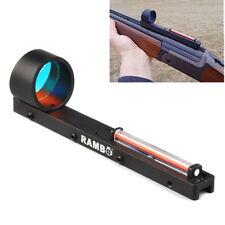 Red Fiber Holographic Scope Sight Dot Sight For Shotgun Rib Rail Hunting Red