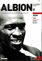 Football Programme>WEST BROMWICH ALBION v ASTON VILLA Aug 2004