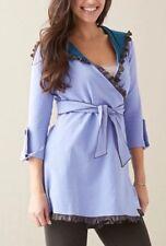 NWT Matilda Jane Periwinkle Nightingale Willow Hooded Cardigan Jacket Women's S
