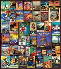 Jigsaw puzzle International Vintage Travel the World Posters 550 piece NEW USA