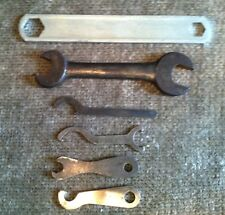 6 Vintage Various Types Sizes and Condition Bicycle Motorcycle Wrenches Lot #111