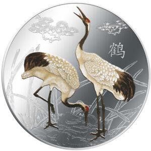 Niue - 2 Dollar 2013 - Kraniche - Feng Shui (2.) - 1 Oz Silber PP