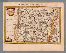 Lotaringia Meredionalis - Original Kupferstich Atlas Minor HOondius 1628