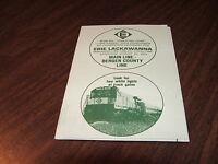 AUGUST 1974 ERIE LACKAWANNA FORM 7 MAIN LINE BERGEN COUNTY LINE PUBLIC TIMETABLE
