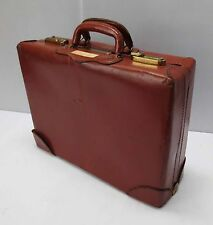 "Vintage Reddish Brown Leather ""Fleetline"" Briefcase/Suitcase (#1)"