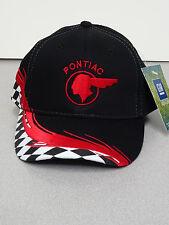 PONTIAC CHIEF BLACK/RED  CHECKERED HAT GM LICENSED