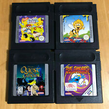 Nintendo Gameboy Games - Rugrats, Smurfs Nightmare, Quest for Camelot, Maya Bee