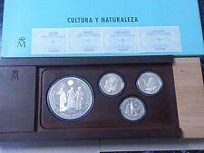 Año 1995. 2ª Serie PLATA Cultura y Naturaleza 2.000-2.000-5.000-10.000 Pesetas.