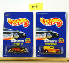 Hot Wheels 3 Window '34 & '32 Ford Delivery Malt O Mal Promo Cars Limited