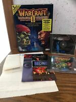 WARCRAFT II - TIDES OF DARKNESS PC GAME! 1996 BLIZZARD MS-DOS/MACINTOSH. Big Box