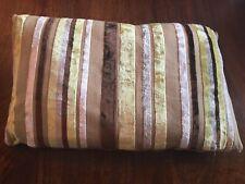 Lime Green Stripe Cushion