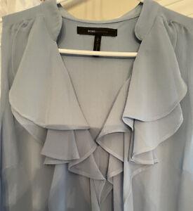 BCBG Maxazria blue gray dress for women summer party