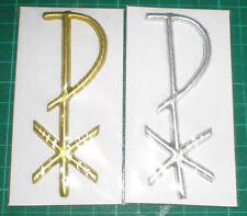 Wachs Dekor PAX ca 9 cm x 3 cm, in silber für Taufe oder Kommunion, Verzierung.
