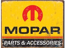Mopar Parts Metal Tin Sign Car Distressed Retro Vintage Look Dodge Plymouth New