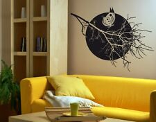 Full Moon Branch with Butterfly - highest quality wall decal stickers