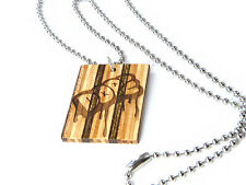 Skateboard Wood Dog Tags Engraved Chain Necklace Dope Weed Sesh Festival Party