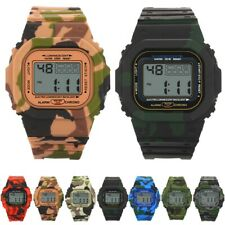 Boys LED Digital Watch Date Alarm Waterproof Sport Children Student Wrist Watch
