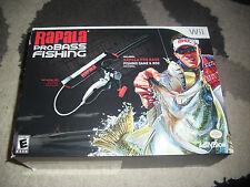 Rapala Pro Bass Fishing Nintendo Wii  with Rod Peripheral Brand New NIB Nice