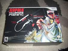 Rapala Pro Bass Fishing Nintendo Wii  with Rod Peripheral Brand New NIB Nice