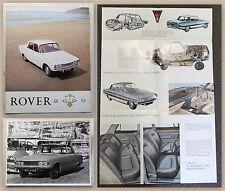 Folleto publicitario cartel Rover 2000 con ORIG. foto para 1970 automóviles XZ