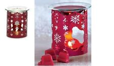 PARTYLITE Winter Lace Fragrance RED SNOWFLAKE Warmer  NEW WITH TAGS