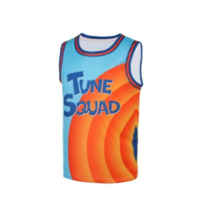 Lebron James Tune Squad Jersey Space Jam 2 New Legacy Basketball Movie 6 Costume