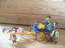 Playmobil 100% Complete Set 3117 Family With Luggage + Horse & Buggy