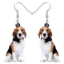 Acrylic Sitting Beagle Dog Earrings Drop Dangle Animal Jewelry For Women Gifts