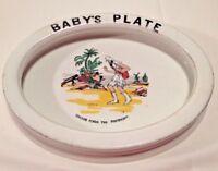 Winton Ware Grimwades Baby Plate Robinson Crusoe Footprint