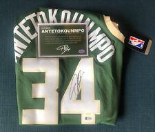 Giannis Antetokounmpo Autographed Bucks Signed Nike NBA Swingman Jersey BAS