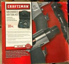 Craftsman Air Tool Set 10 Piece Impact Ratchet Wrench Mechanic Kit w/ Hard Case
