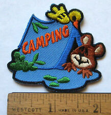 Girl Boy Scout Guide CAMPING FUN PATCH Tent Camp Troop Trip Summer Event Badge