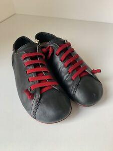 CAMPER PEU Cami Black leather Lace Up Comfort Shoes Women's Size 39 US 9