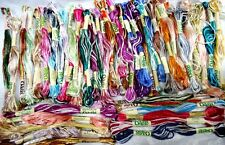 New 50 x Variegated Oasis Art Silk Rayon Stranded Embroidery Skeins Thread