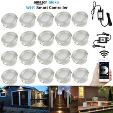 20X WIFI Control Dimmer Timer 45mm Warm White LED Deck Stair Step Soffit Lights