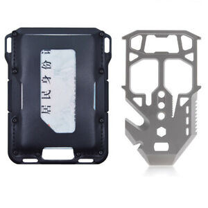 Men Rfid blocking Credit Card Holder EDC Tactical wallet with MT04 MULTI-TOOL