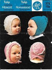Vintage Baby Knitting Pattern, Loopy Hat & Bonnets, DK, Please Read