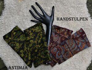 Armstulpen Handstulpen Paisley Hippie Goa Psy Trance Elfen Feen Pulswärmer Bunt