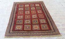 4'3 x 5'10 Handmade vintage afghan tribal berjesta wool persian area kilim rug