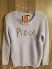 Women By Design Purple Peace Sweater Size Large