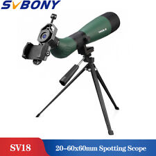 SVBONY SV18 20-60x60 AE Angled Spotting Scope FC BK7 Prism+Phone Mount Adapter