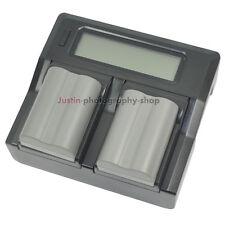 Fast LCD Charger +2x Battery For Nikon EN-EL3e MH18 D700 D90 D80 D200 D300 D300S