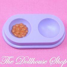 Fisher Price Loving Family Dream Dollhouse Pet Purple Dog Cat Food Water Bowl