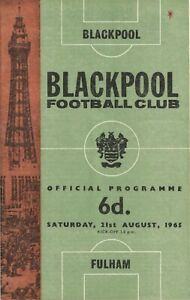 Blackpool v Fulham - August 1965 - Division One  *