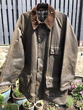 "Original Barbour Solway Zipper Wax Jacket Olive Green Country Shooting Size 44"""
