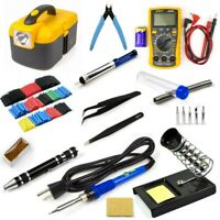 Electric Soldering Iron Gun Tool Kit 60W 110V Welding Tool Digital Multimeter